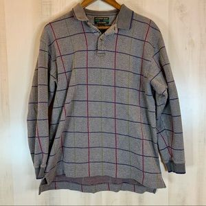 Alexander Julian Colours Polo Sweater Gray L